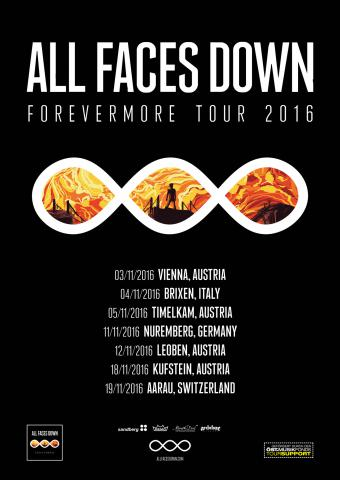 All Faces Down - Forevermore Tour Flyer