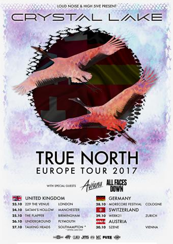 All Faces Down - True North UK/Europe Tour Flyer